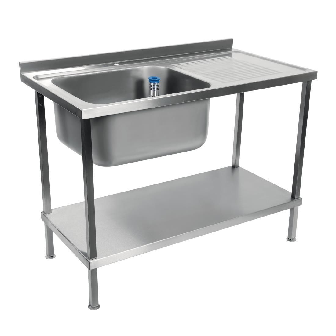 Holmes Self Assembly Stainless Steel Sink Right Hand Drainer 1500mm - DR370